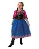 Disney Frozen Annas Musical & Light Up Kids Costume Movie Fancy Dress
