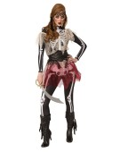 Skellie Pirate Wench Costulle Women Halloween Skelee  Fancy Dress