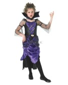 Gothic Vampiress Kids Halloween Girls Vampire Costume