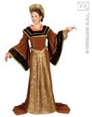 Tudor Woman Medieval XL Adult Fancy Dress Costume