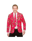 Reindeer Christmas Jacket & Tie X Large Adult Fancy Dress