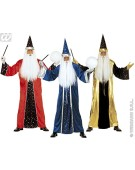 "Mens Fantasy Wizard Costume Small UK 38/40"" for Harry Potter Theme Fancy Dress"