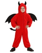 Children's Fuzzy Devil Toddler 104cm Costume Toddler 2 to 3 yrs 104cm for Animal Jungle Farm Fancy Dress