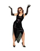 "Celebrity Costume Black Extra Large UK 46"" 20s Adult Ladies Fancy Dress Costume"