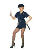 "Cop Lady Medium UK 10-12"" Adult Ladies Fancy Dress Costume"