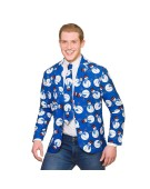 Snowman Christmas Jacket & Tie X Large Adult Fancy Dress