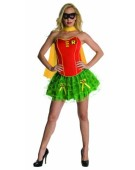 Ladies Corseted Robin Tutu Adult Fancy Dress Batman Costume