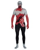 Halloween Fancy Dress Adult Costume Zombie 2nd Skin Suit