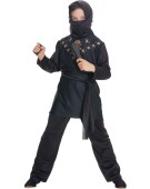 Child Black Ninja Fancy Dress Kids Oriental Costume