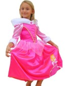 Girls Disney Princess Sleeping Beauty Winter Wonderland Fancy Dress Princess Costume
