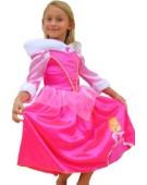 Girls Disney Princess Sleeping Beauty Winter Wonderland Fancy Dress Princess Costume