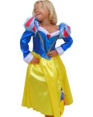 Girls Disney Princess Snow White Winter Wonderland Fancy Dress Costume