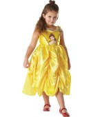 Girls Disney Golden Belle Princess Fancy Dress Costume