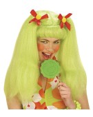 Dolly Wig Retro Green Adult Fancy Dress Accessory