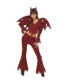 Rowdy Devil Set Small Adult Ladies Fancy Dress Costume