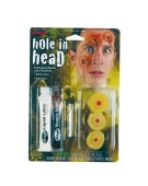 Hole in Head FX Prosthetic Wound Halloween Fancy Dress Accessory