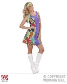 Go - Go Hippie Girl Medium UK 10 - 12 Adult Fancy Dress Costume