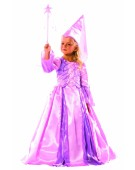 DELUXE PINK FAIRY WITH HENNIN AND WAND FANCY DRESS Large