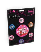 7 Hen Party Badge Set Accessory Fancy Dress Costume