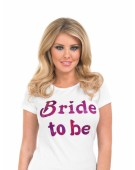 BRIDE TO BE TRANSFER Accessory Fancy Dress Costume