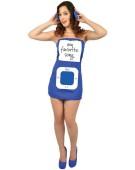 Morph Suit Personalisable Mp3 Player Blue Large Adult Fancy Dress Costume
