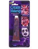 Makeup Cream Tube Brown 1Oz Face Paint Halloween Fancy Dress Accessory