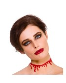 Dripping Blood Choker One Size Adult Fancy Dress Accessory