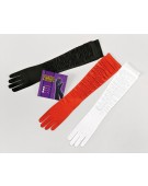 Gloves. White Satin Theatrical Accessory Fancy Dress