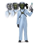 Deluxe First Contact Alien Kids gun and Motion mask Costume Halloween Scary Fancy Dress