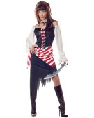 DELUXE RUBY THE PIRATE BEAUTY FANCY DRESS COSTUME ALL SIZES HEN NIGHT CUTTHROAT
