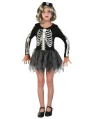 Skeleton Girl (S) costume Kids Fancy Dress