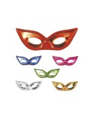 Metallised Eyemask 6 Colours Adult Fancy Dress Accessory