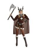 Viking Viktoria Medium UK 10-12 Roman Gladiator Ladies Fancy Dress Costume