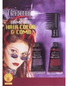 Vampire Hair Color and Comb Accessory Halloween Costume