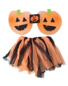 Pumpkin TuTu and Wings Set costume Kids Fancy Dress
