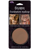 Face Paint Brown Makeup 10gm Blister Halloween Fancy Dress Accessory