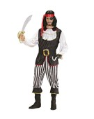 "Mens Pirate Deluxe Costume Large UK 42/44"" for Buccaneer Fancy Dress"