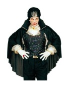 Vampire Set with Cape Medium Adult Mens Fancy Dress Costume
