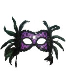 Purple and Black and Feather H and B costume Fancy Dress