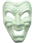 Happy Mask. White (H/B) costume Fancy Dress