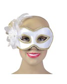 White  and  Side Feathers G and F costume Fancy Dress