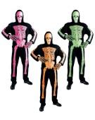 "Neon Skeleton 3D Halloween Small 38/40"" Fancy Dress Costume"
