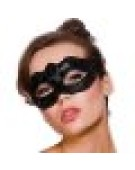 Verona Eyemask Mask for Masquerade Fancy Dress - Black Glitter