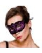 Verona Eyemask Mask for Masquerade Fancy Dress - Purple Glitter
