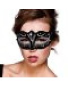 Verona Eyemask Mask for Masquerade Fancy Dress - Silver Glitter