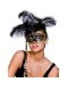 Treviso Eyemask Mask for Masquerade Fancy Dress - Black / Gold