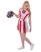 Cheerleader Bloody with Pom Pom costume Adult Fancy Dress