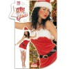 Ladies Miss Santa Velvet Costume Small UK 8-10 for Christmas Panto Nativity Fancy Dress